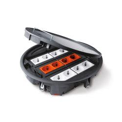 Bodensanschlusssysteme | Schuko sockets | Hager