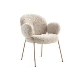 Nana | Nana Armchair mit Stahlgestell | Chairs | FREIFRAU MANUFAKTUR