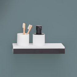 Accessories and furnishings bar and Shelf cup and dispenser holder | bar 30, shelf 30 | Soap dispensers | Ceramica Cielo