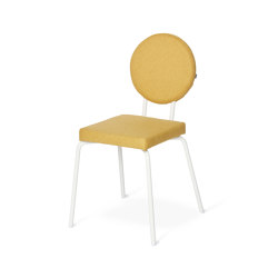 Option Chair Yellow, Square seat, round backrest | Chairs | PUIK