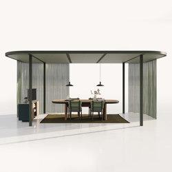 Pavilion O Hub | Open with Curtains | Gazebos | KETTAL