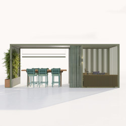 Pavilion O Hub | Open with Meeting and Sofas | Gazebos | KETTAL