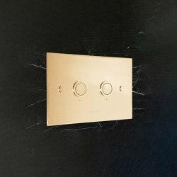 Diamond flush plate polished brass unlacquered | Flushes | Aquadomo