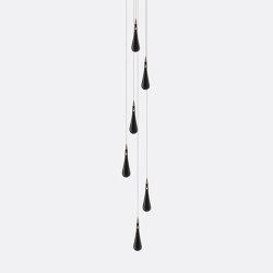 Rain Drop 6 Grey   Suspended lights   Shakuff