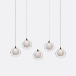 Kadur Drizzle 5 Clear Drizzle   Suspended lights   Shakuff
