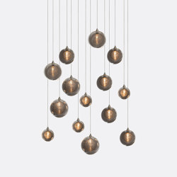 Kadur Drizzle 14 Grey Outer   Suspended lights   Shakuff