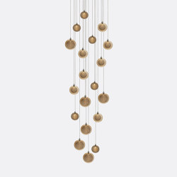Kadur Drizzle 19 Amber Outer   Suspended lights   Shakuff