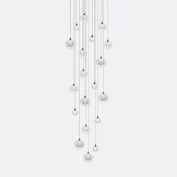 Kadur Drizzle 19 Clear Drizzle   Suspended lights   Shakuff