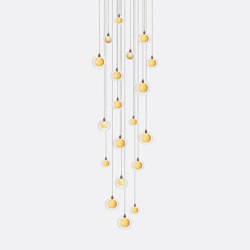 Kadur Drizzle 19 Gold Drizzle   Suspended lights   Shakuff