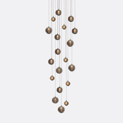 Kadur Drizzle 19 Grey Outer   Suspended lights   Shakuff