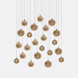 Kadur Drizzle 22 Amber Outer   Suspended lights   Shakuff