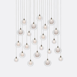 Kadur Drizzle 22 Clear Drizzle   Suspended lights   Shakuff