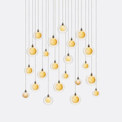 Kadur Drizzle 22 Gold Drizzle   Suspended lights   Shakuff