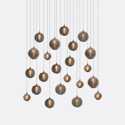 Kadur Drizzle 22 Grey Outer   Suspended lights   Shakuff