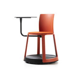 Revo | Chair with castor Base, Tablet and Upholstery | Chairs | TOOU