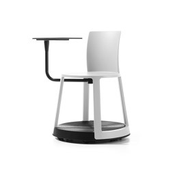 Revo | Chair with castor Base and Tablet | Chairs | TOOU