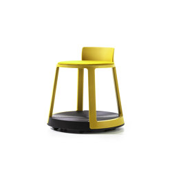 Revo | Stool with Castor Base and Upholstery | Stools | TOOU