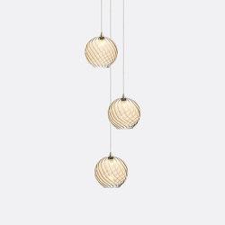 Globe 3 Amber   Suspended lights   Shakuff