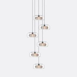 Halo 6 Clear Drizzle   Suspended lights   Shakuff