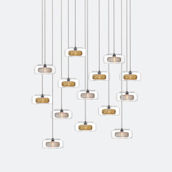 Halo 14 Mixed Colors   Suspended lights   Shakuff