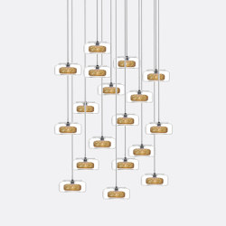 Halo 18 Gold Drizzle   Suspended lights   Shakuff