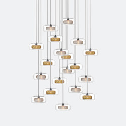 Halo 19 Mixed Colors   Suspended lights   Shakuff