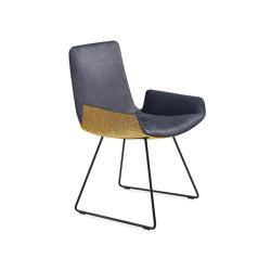 Amelie | Armchair Low mit Kufengestell | Stühle | FREIFRAU MANUFAKTUR