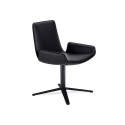 Amelie | Armchair Low mit Fußkreuzgestell | Stühle | FREIFRAU MANUFAKTUR