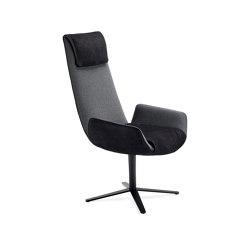 Amelie | Executive Armchair mit Fußkreuzgestell | Stühle | FREIFRAU MANUFAKTUR