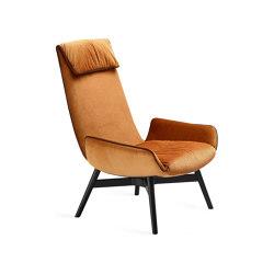 Amelie | Lounge Chair Holzgestell mit Kreuzzarge | Sessel | FREIFRAU MANUFAKTUR