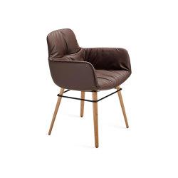 Leya   Armchair High mit Holzgestell mit umlaufendem Metallring   Stühle   FREIFRAU MANUFAKTUR