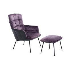 Marla | Easy Chair High mit 4-Fuß Stahlgestell | Sessel | FREIFRAU MANUFAKTUR