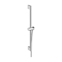 hansgrohe Unica Shower bar Pulsify 65 cm with push slider and shower hose | Bathroom taps accessories | Hansgrohe