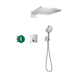 hansgrohe Raindance E Shower system 300 1jet with ShowerSelect Square   Shower controls   Hansgrohe
