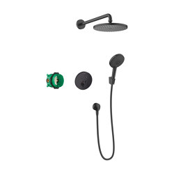hansgrohe Raindance S Shower system 240 1 jet PowderRain with ShowerSelect S   Shower controls   Hansgrohe