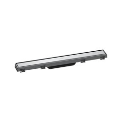 hansgrohe RainDrain Match Finish set shower drain 60 cm with height adjustable frame   Linear drains   Hansgrohe