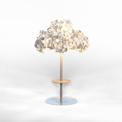 Leaf Lamp Metal Tree L w table | Free-standing lights | Green Furniture Concept