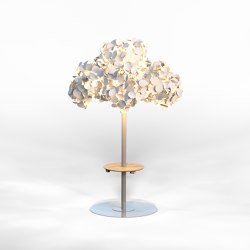 Leaf Lamp Metal Tree L w charging table | Free-standing lights | Green Furniture Concept