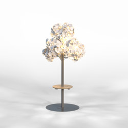 Leaf Lamp Metal Tree M w charging table | Free-standing lights | Green Furniture Concept