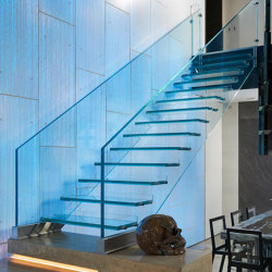 Mistral All glass Glass stair Chicago | Staircase systems | Siller Treppen