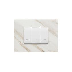 Eikon Exè stoneware white Calacatta Switches | Push-button switches | VIMAR