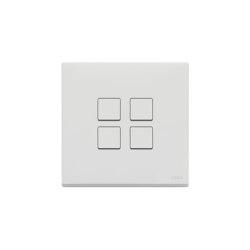 Eikon Flat matt white Switches | Push-button switches | VIMAR