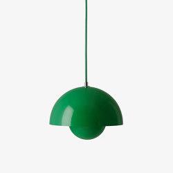 Flowerpot VP1 Signal Green | Suspended lights | &TRADITION