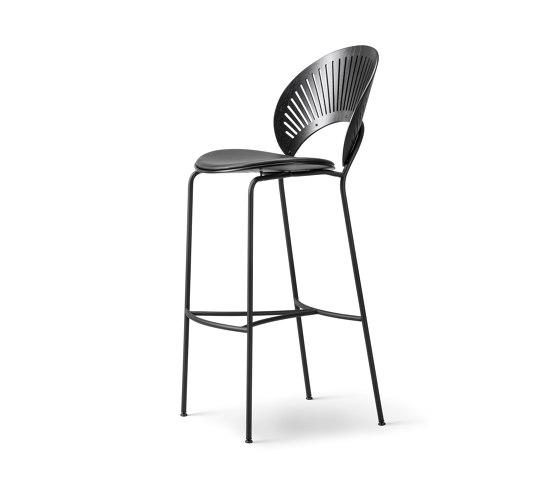 Trinidad Stool - seat upholstered di Fredericia Furniture | Sgabelli bancone
