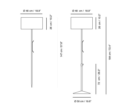 Harry Plus | Floor lamp by Carpyen | Outdoor free-standing lights