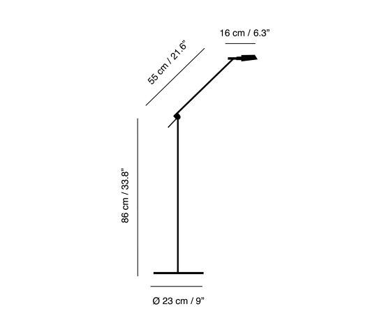 Tema | Floor lamp di Carpyen | Lampade piantana