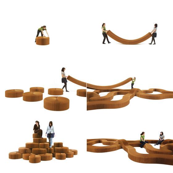 softseating fanning stool + bench von molo | Poufs / Polsterhocker