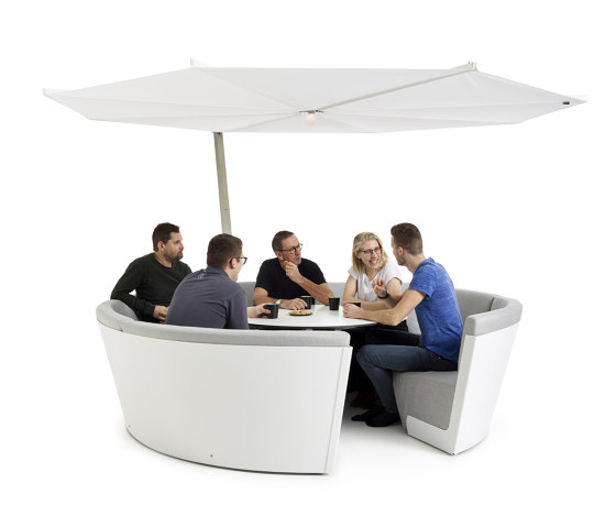 Kosmos 8-seater low by extremis | Parasols
