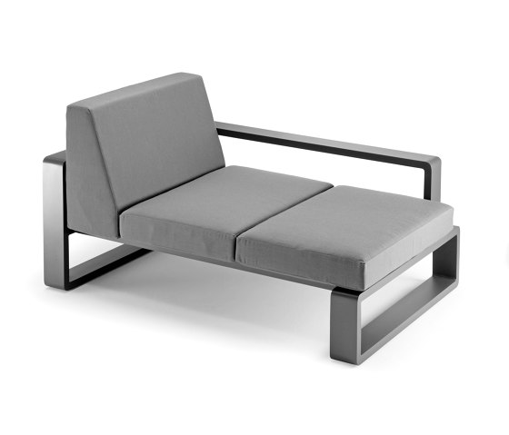 Kama   Meridian with Right Armrest di EGO Paris   Chaise longue