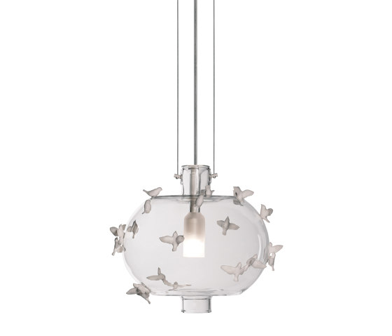 Re-cyclos Freeze Frame Birds Ceiling Lamp (CE) by Lladró | Suspended lights